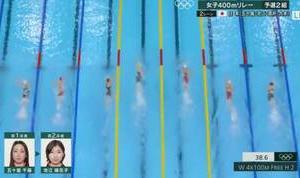 日本女子競泳 残念  でも池江璃花子選手が泳いでいる姿見れて良かった