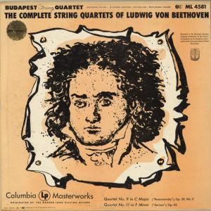 ブダペストQのLP盤 ベートーヴェン弦楽四重奏曲「ラズモフスキー」が揃うが...。