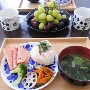 新巻鮭でおにぎりの朝ごはん♡トイトレその後