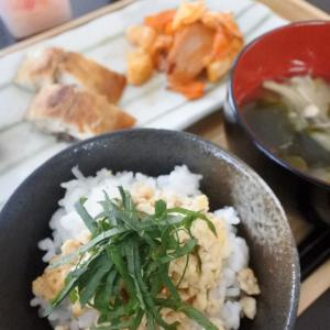 【豆腐そぼろの朝ごはん♡と、前期終了日】