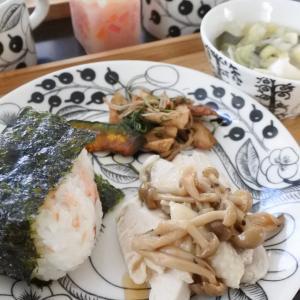 鶏ハムのきのこソースの朝ごはん♡と、頑張りました