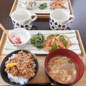 納豆ごはんの朝ごはん♡と9月分の食費♪