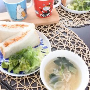 自家製鶏ハムのサンドイッチ♡と、台風19号