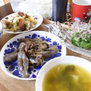 秋刀魚と蒟蒻の梅煮の夕食♡クリスマスツリー♪
