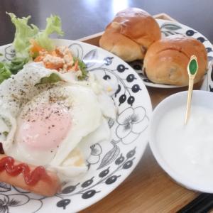 珍しくロールパンの朝ごはん♡と、ファミサポ♪