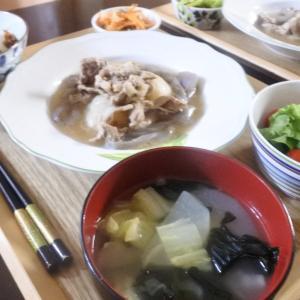 蕪と豚肉の煮物の夕食♡と、三輪車??
