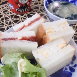 2種のサンドイッチの朝ごはん♡と、プレ幼稚園♪