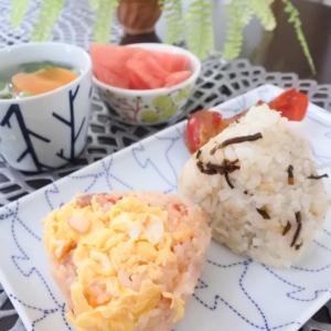 2種のおにぎりの朝ごはん♡今日は修了式!