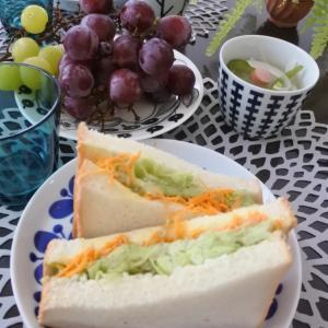 アボカドサンドイッチの朝ごはん♡と、行きたいな♪