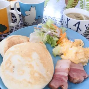 【パンケーキの朝ごはん♡と、そんなに強く??】