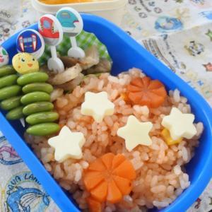 チキンライスの幼稚園弁当♡