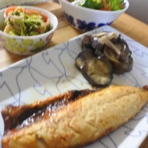 鯖の西京焼きの夕食♡と、静かです