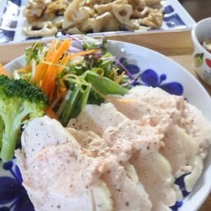 鶏むねの明太ソースの夕食♡と、天気の良い日は♪