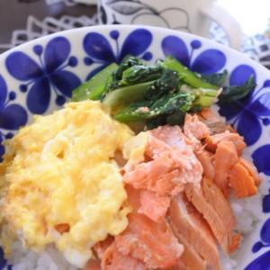 コストコの鮭で三色丼の朝ごはん♡と、来週は・・・