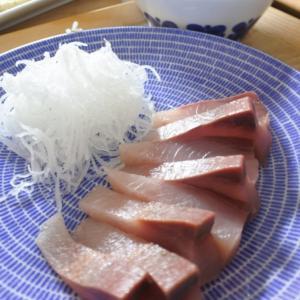 鰤のお刺身の夕食♡