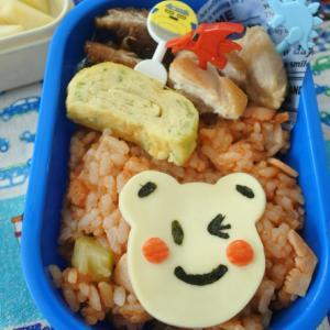 鯖の竜田揚げの幼稚園弁当♡