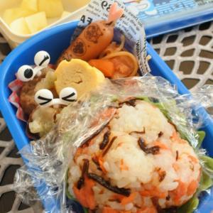 鮭ご飯の幼稚園弁当♡