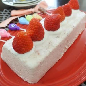 苺のババロアでHappy Birthday♡