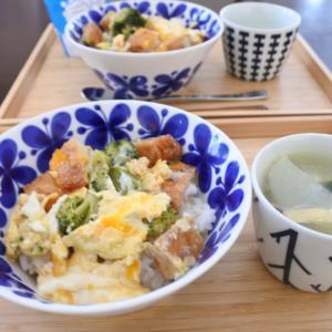 さつま揚げの卵とじ丼の朝ごはん♡と、腹立ただしい