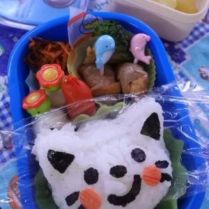 厚揚げの牛肉巻きの幼稚園弁当♡