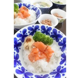 鮭ルイベ漬けの朝ごはん♡と、仲良く?