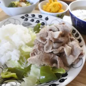 豚しゃぶの夕食♡