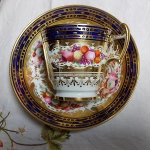 COALPORT Cup & Saucer・Sugar Pot (1820年頃)