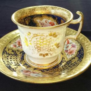COALPORT Cup & Saucer (1820年頃)