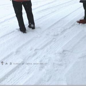雪の日に・・・