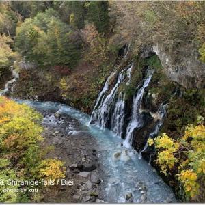 ブルーリバーと白髭の滝