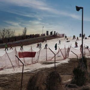 春節のスキー場