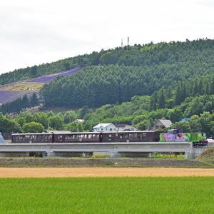 JR北海道DE15(快速富良野・美瑛ノロッコ号/ラベンダー畑駅付近)その2