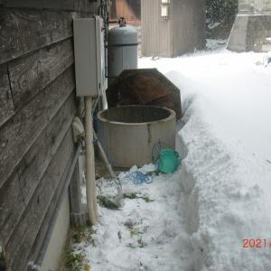 寒波で水道が凍った