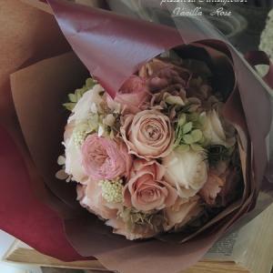 #両親贈呈の花束ブーケ(プリザーブドフラワー)