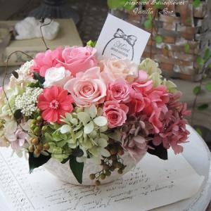 #新作・母の日バラのオーバルアレンジメントをアップしました!