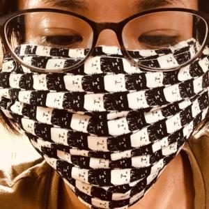 昨日の布マスク、試作2回目。