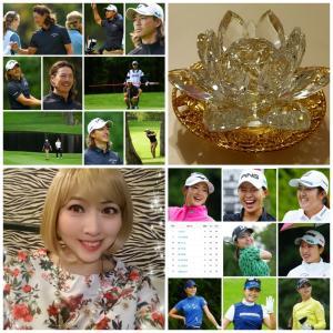 ゴルフお誕生日プレゼント曲+パワーストーン蓮の花水晶にて~♪