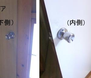 トイレのドアノブをレバーに変える