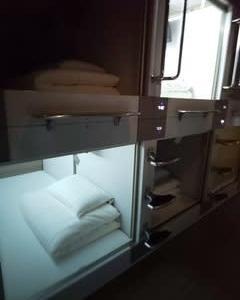 半分、青春18の旅 夏編~その3 京のカプセルホテル