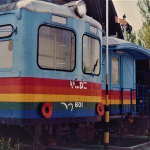 中津にて、民宿汽車ポッポ 1989年頃
