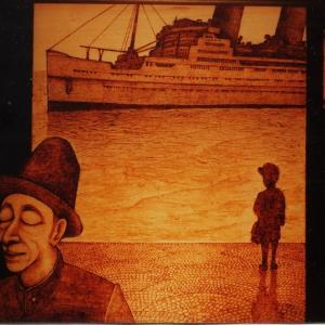 トレインアート「スローボートテゥーチャイナ」1990年製作作品