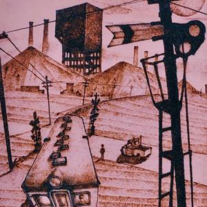 トレインアート「炭鉱(やま)は、知っている。旧国鉄勝田線の幻想」