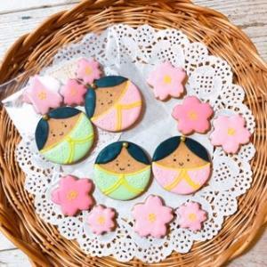 お菓子作りは癒し、です♡ ~おひな様アイシングクッキー♡