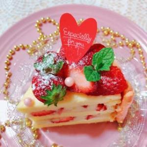 こんな時だから、のケーキ作り♪ ~フィンガークッキーdeいちごケーキ♡