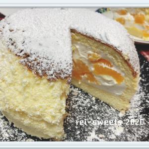 みかんのふわっふわドームケーキ♪