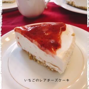 娘と作った苺のレアチーズケーキ☆