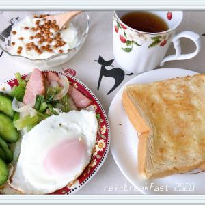 私のおひとり様朝食タイム。