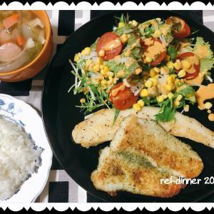 お魚ソテーの簡単ごはん。