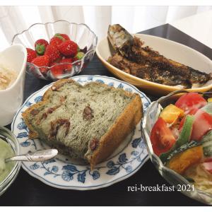 朝食→パンと魚ww