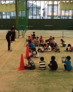 テニス教室&空き缶拾い